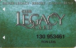 Silver Legacy Casino Reno NV - 6th Issue Slot Card With INNOVATIVE - Cartes De Casino
