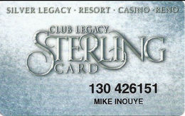 Silver Legacy Casino Reno NV - 5th Issue Slot Card - Cartes De Casino