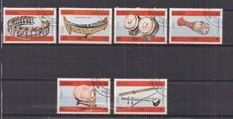 LAOS  1984  STRUMENTI MUSICALI  YVERT 539-544  USATA - Laos