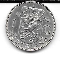 Pièce 1 Gulden De 1956 Argent : TTB. - 1948-1980 : Juliana