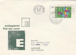 Liechtenstein FDC Europa Pour La Nouvelle Zélande 1960 - FDC