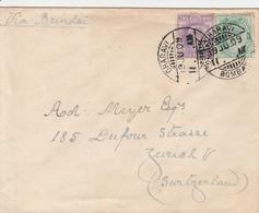 Inde Lettre Pour La Suisse 1909 - India (...-1947)