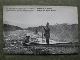 EST AFRICAIN ALLEMAND ( Occupation Belge ) - MARAIS DE LA KAGERA  ( Scan Recto/verso ) - Tanzanie