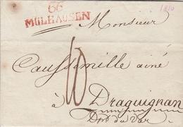 France Alsace Lettre Mülhausen 1810 - Marcophilie (Lettres)