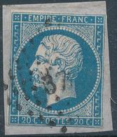 N°14 VARIETE   + PETITS CHIFFRES OU AUTRES + VALUE - 1853-1860 Napoleon III