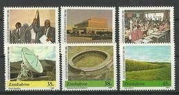 ZIMBABWE 1990 10th ANNIVERSARY OF INDEPENDANCE,ACHIEVEMENTS SET MNH - Zimbabwe (1980-...)