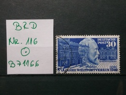 BRD Stephan Mi-Nr.116 Gestempelt - [7] République Fédérale