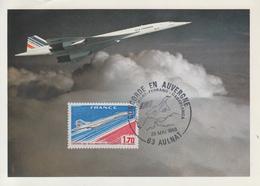 Carte  FRANCE   CONCORDE   En   AUVERGNE      AULNAT    1983 - Concorde