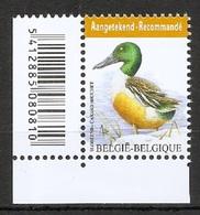 BELGIE * Buzin * Nr 4537  Barcode * Postfris Xx * WIT  PAPIER - 1985-.. Oiseaux (Buzin)