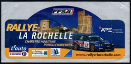 RALLYE LA ROCHELLE * FFSA AUTO RACING * AUTOCOLLANT A1698 * - Autocollants