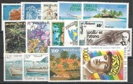 WALLIS & FUTUNA - Année Complète 1990 ** - TB - Wallis-Et-Futuna