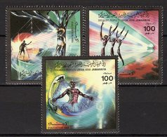 Befreiung 1985 Libyen 1612/4 ** 5€ Vertreibung Truppen Des Ausland Zerreißt Das Spinnen-Netz Military Set Bf Libya - Libye