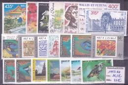 WALLIS & FUTUNA - Année Complète 1993 ** - TB - Wallis-Et-Futuna