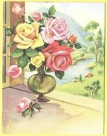 Tematica - Fiori - Rose - Mazzo Di Rose Su Davanzale - Not Used - Roses