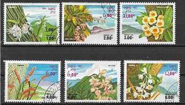 LAOS  1983 FIORI YVERT. 481-486 USATA VF - Laos