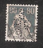 Perfin/perforé/lochung Switzerland No YT166 1918 Hélvetie Assise Avec épée  SB  G  Schweizerische Bankgesellschaft - Perforés