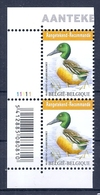 BELGIE * Buzin * Nr 4537  Barcode + Plaatnr 1 * Postfris Xx * WIT  PAPIER - 1985-.. Oiseaux (Buzin)