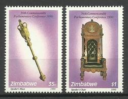 ZIMBABWE 1990 36th COMMONWEALTH PARLIAMENTARY CONFERENCE SET MNH - Zimbabwe (1980-...)
