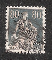 Perfin/perforé/lochung Switzerland No YT166 1918 Hélvetie Assise Avec épée  MAUS  Maus Frères, Grands Magasins - Perforés