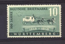 05004 -   Allemagne  -  Würtemberg  :  Yv  49  ** - Zone Française