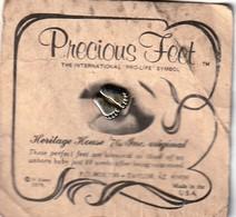 Rare Pin's Precious Feet 1979 USA - Pin's