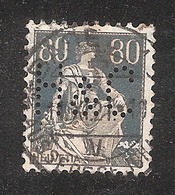 Perfin/perforé/lochung Switzerland No YT166 1918 Hélvetie Assise Avec épée  H&C   Hediger & Co - Perforés