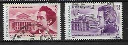 ROMANIA 1985 FAMOUS OPERA COMPOSERS PAIR EX MS - 1948-.... Républiques