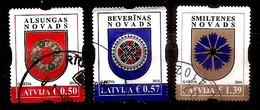LATVIA LETTLAND 2016 Definitive: Heraldry. FULL SET USED (0) Small City Logo - Lettonie