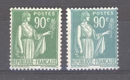France  :  Yv  367a  **    Vert émeraude - 1932-39 Paix