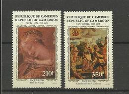 Tableaux Peinture Cameroun ** YT  785/86 Pâques 86  Prud'hon Van Scorel Lapidation De Saint Etienne - Religieux