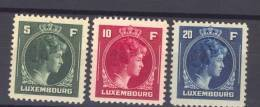 Luxembourg  -  1944  :  Yv  353-55  ** - Luxembourg