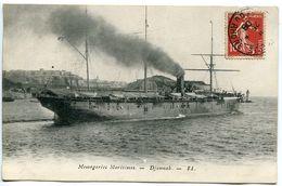 CPA Messageries Maritimes Le DJEMNAH ( Bateau Paquebot à Vapeur ) Ecrite à Bord à Marseille Mai 1908 - Commerce