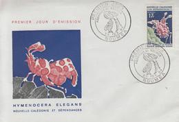 Enveloppe   FDC  1er   Jour   NOUVELLE   CALEDONIE   Aquarium  De   NOUMEA   1964 - FDC