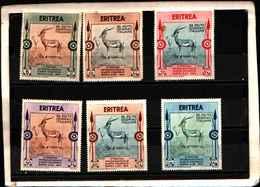 90167) ERITREA- 2ª Mostra D'arte Coloniale Di Napoli - 17 Ottobre 1934 -MLH* SERIE COMPLETA - Erythrée
