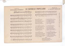 LE RONDEAU POPULAIRE  Chanson TOURMAN  Partition Parole Musique ORVIOT BRIOLLET Ed Bigot - Musique Et Musiciens