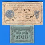 Algerie  2  Billets - Algérie
