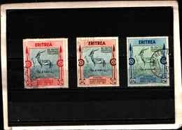 90168) ERITREA-20C.+60C.+1.25L.- 2ª Mostra D'arte Coloniale Di Napoli - 17 Ottobre 1934 -USATI - Erythrée