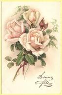 Tematica - Fiori - Rose - Mazzo Di Rose - Bonne Fête - 1931 - Wrote But Not Sent - Roses