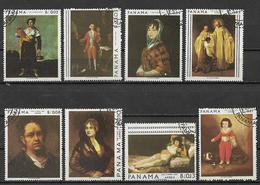 PANAMA 1967 QUADRI DI GOYA YVERT. 459-461+POSTA AEREA 428-432 USATA VF - Panama