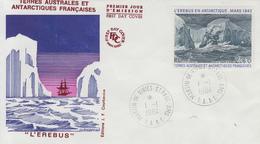 Enveloppe   FDC   1er  Jour   T.A.A.F   L' EREBUS  En  Antarctique   1984 - FDC