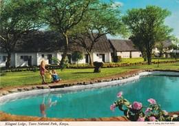 KILAGUNI LODGE, TSAVO NATIONAL PARK, KENYA. PHOTO E LUDOWIG. CIRCULEE 1981 A BUENOS AIRES 3 COLOR STAMPS - BLEUP - Kenya
