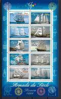 France 1999 Bloc Feuillet N° 25 Neuf Bateaux Voiliers Armada Du Siècle à La Faciale - Blocs & Feuillets
