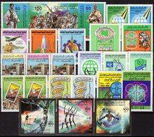 History 1978-1985 Libya 10 Sets ** 25€ Menschenrecht OPEC Vertreibung FAO Architectur Moschee Ship Military Bf UNO - Histoire