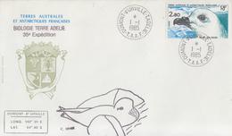 Enveloppe   FDC   1er  Jour   T.A.A.F     Petrel   Des   Neiges    1985 - FDC