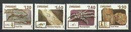 ZIMBABWE 1998 FOSSILS SET MNH - Zimbabwe (1980-...)