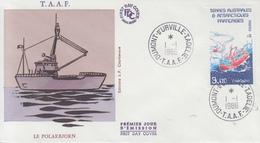Enveloppe  FDC  1er  Jour   T.A.A.F   Navire  Le  Polarbjorn    1986 - FDC