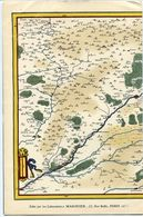 Carte Du Duché D'ORLEANS Editée Par Laboratoires MARINIER à Paris En 19 ? + Monuments Orléans * Publicité - Geographical Maps