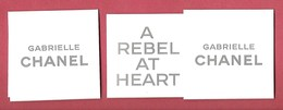 F - Sticker Chanel  Dans Un étui - Gabrielle -perfume Card - USL - Cartes Parfumées