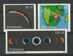ZIMBABWE 2001 SOLAR ECLIPSE SET MNH - Zimbabwe (1980-...)