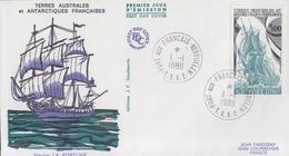 Enveloppe  1er  Jour   T.A.A.F    Voilier   LA  FORTUNE   1988 - FDC